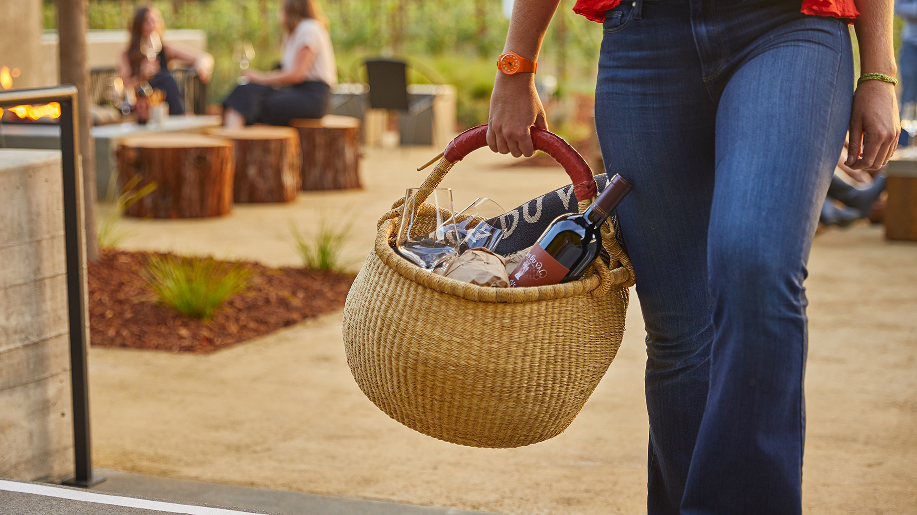 Clos-Du-Val-Basket Lifestyle in Napa Valley
