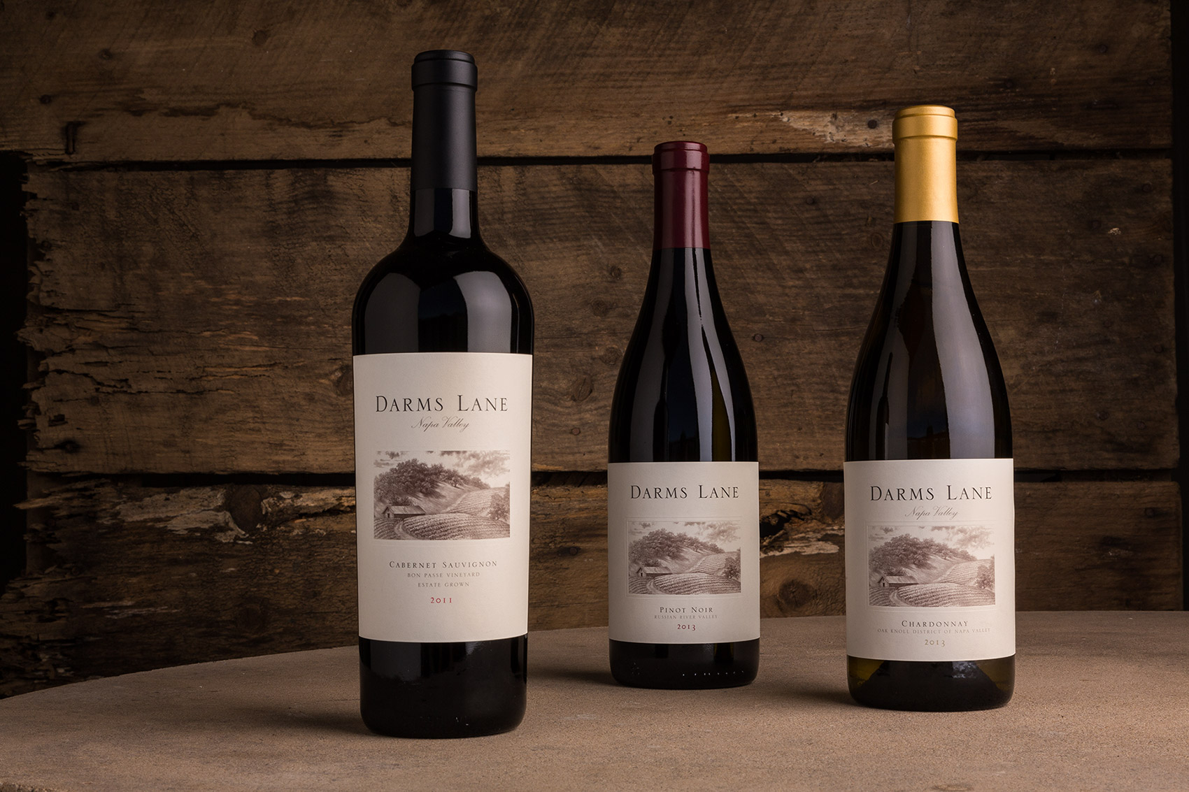 Darms Lane Winery - Products Lineup. Napa Valley