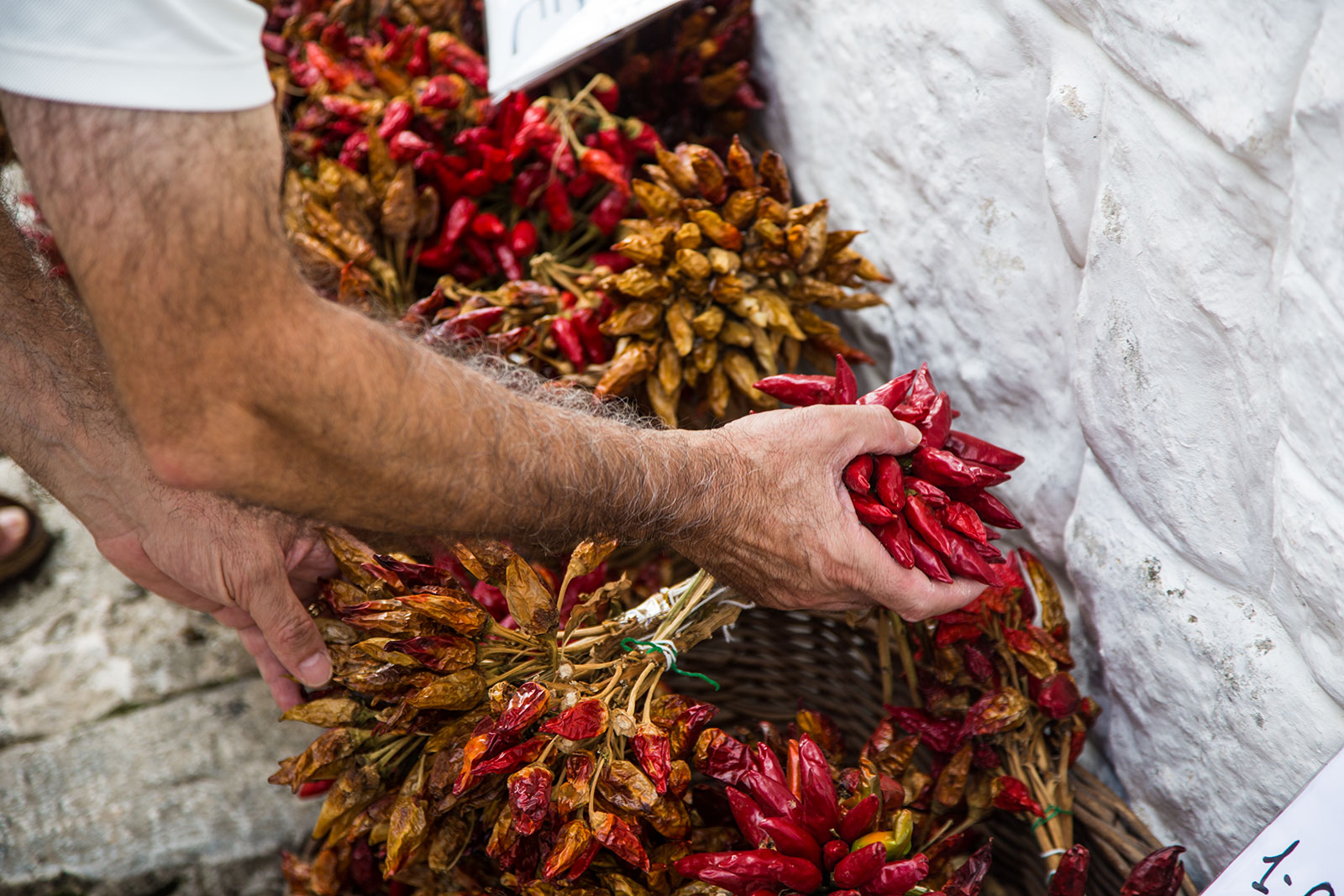 Peperoncini, Alberobello. Puglia. Red Peppers Rocco Ceselin Travel Photography