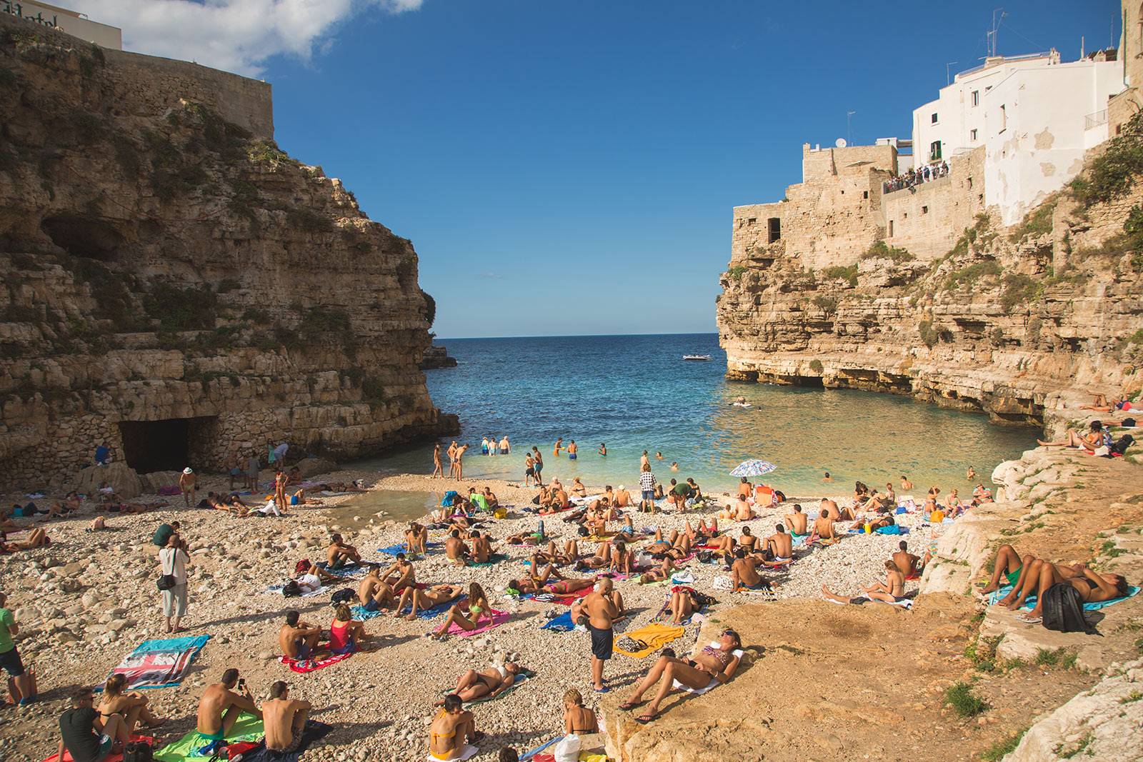 Polignano a Mare. The town beach. Puglia