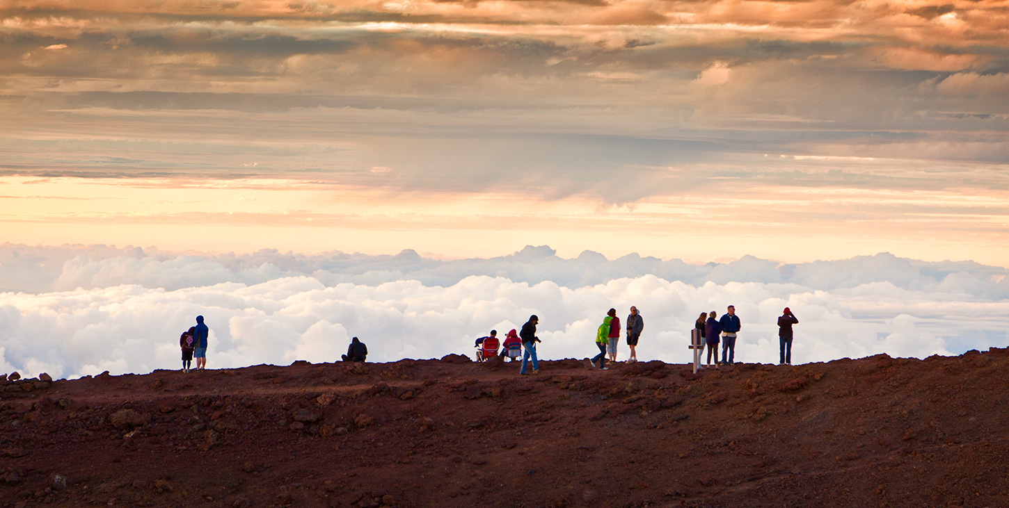 Haleakala on the Top of the Volcano with Clouds