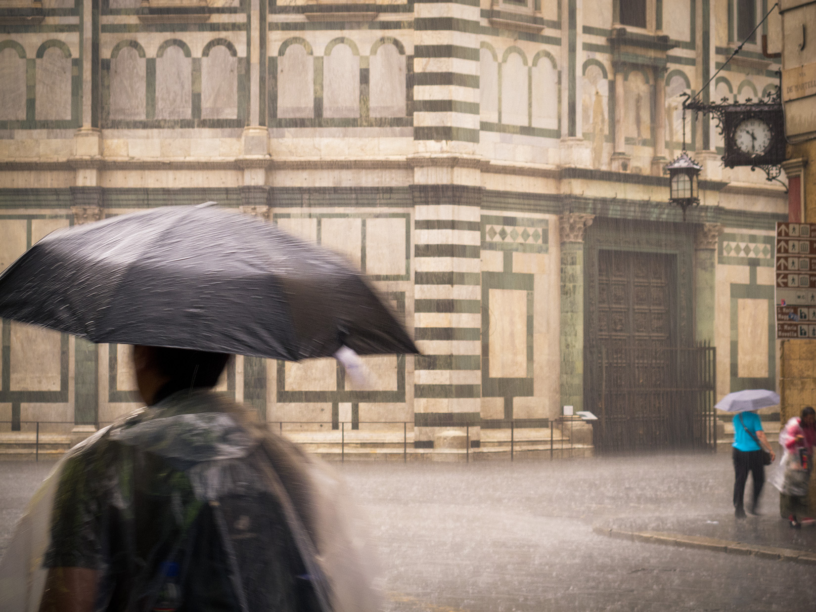Firenze under an heavy rainstorm
