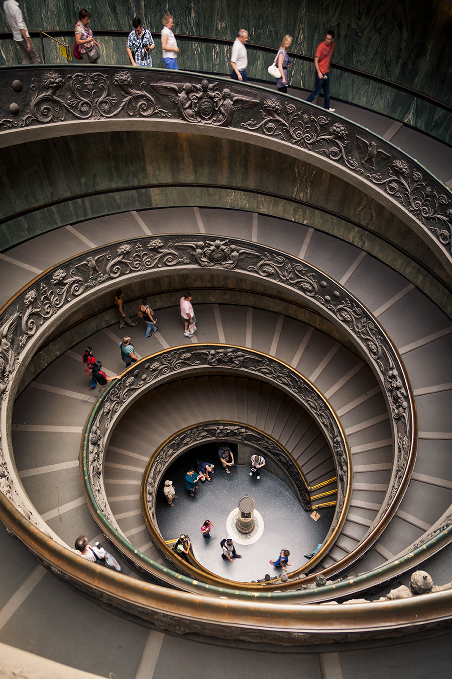 Vatican Museum Staircase. Roma