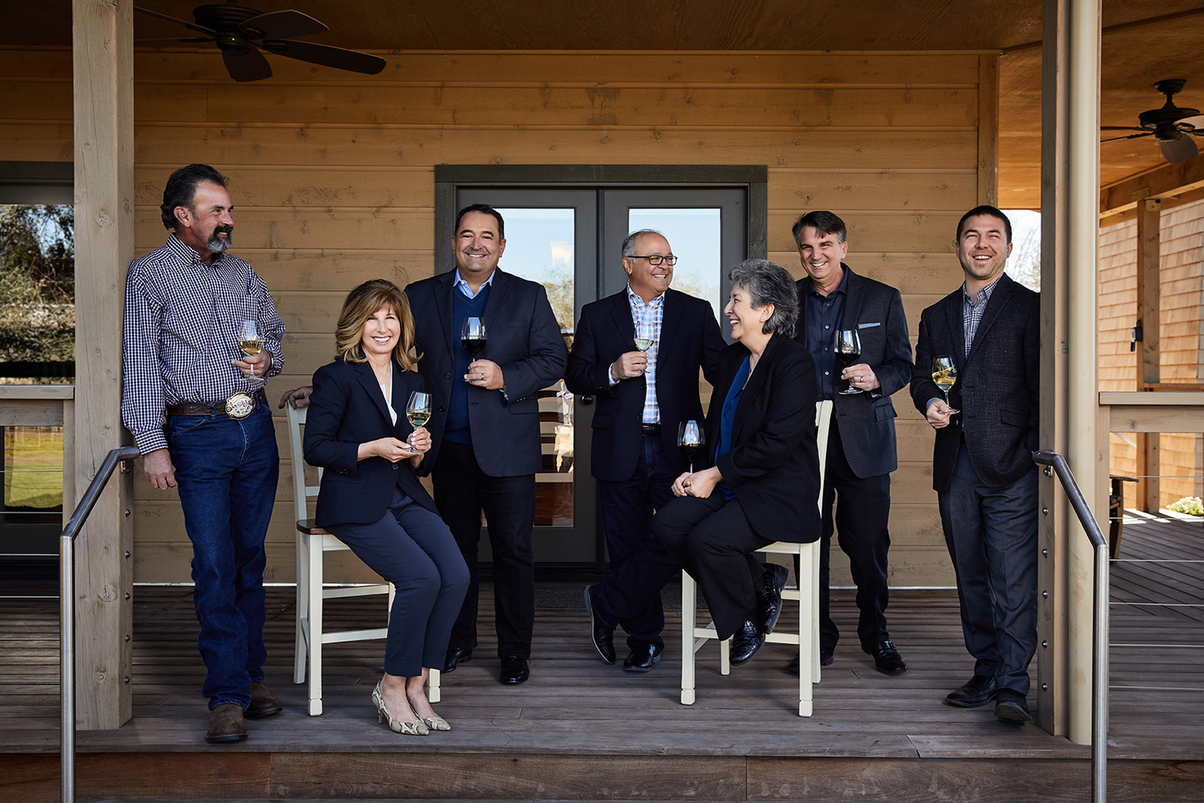 Group portrait of Indelicato Family / Delicato Family Vineyards