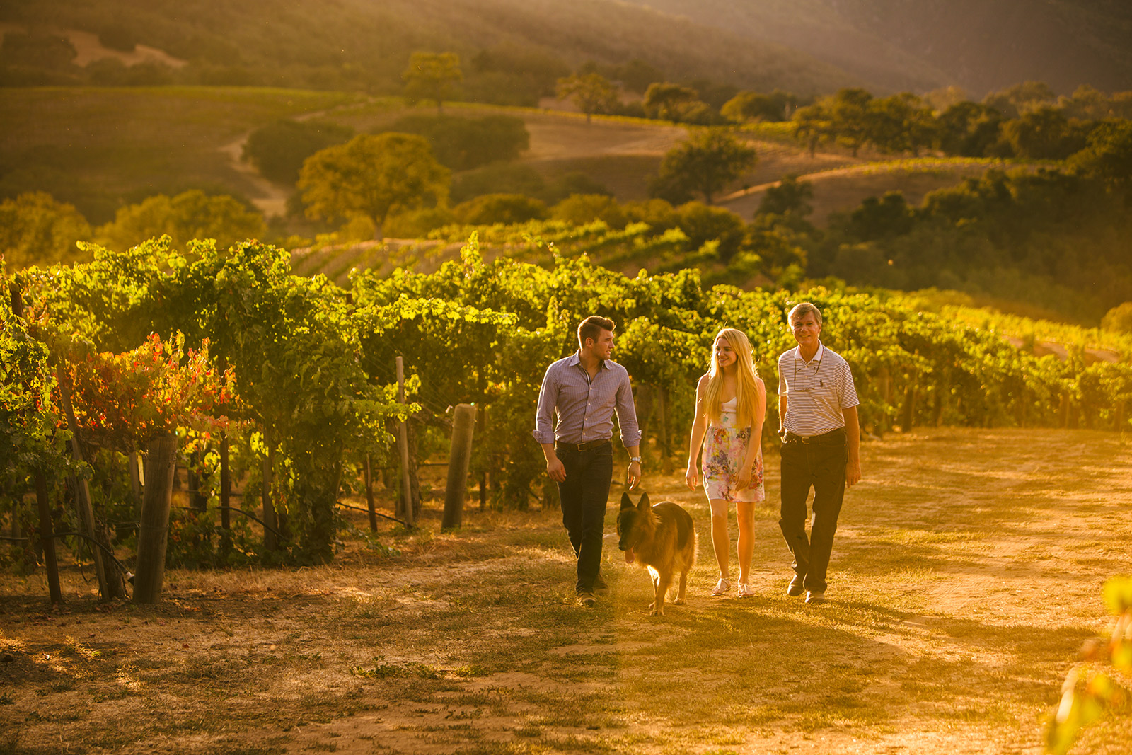 Joullian Vineyards team. Carmel Valley CA