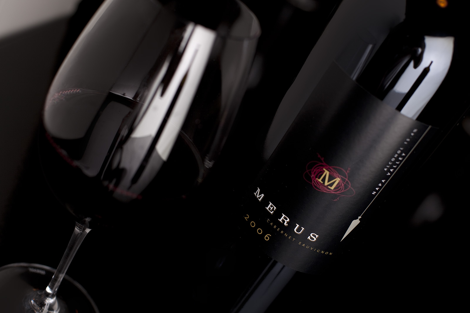 Merus Winery Product Shot. Saint Helena CA