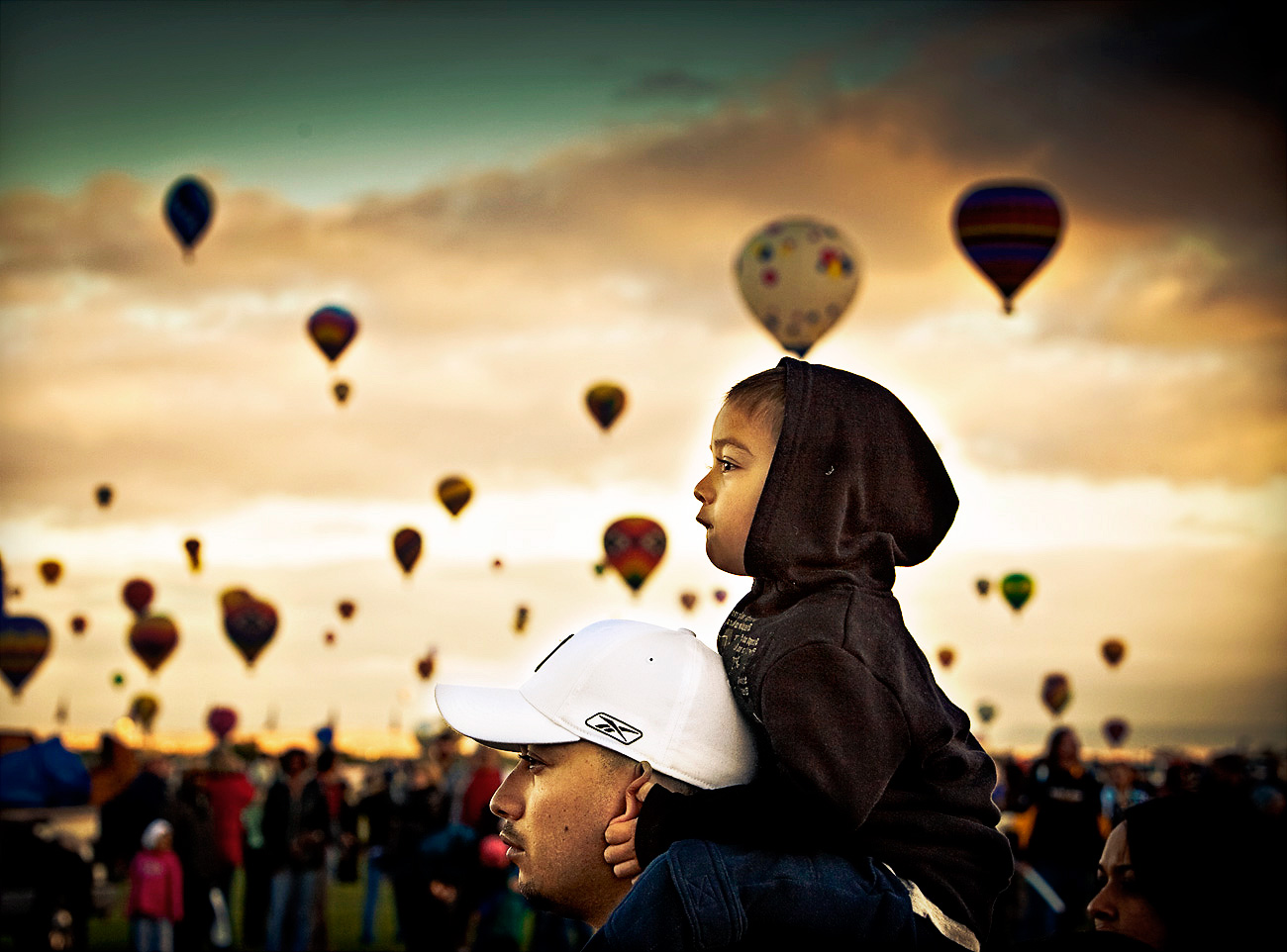 Balloon Fiesta, Early Morning. Albuquerque NM