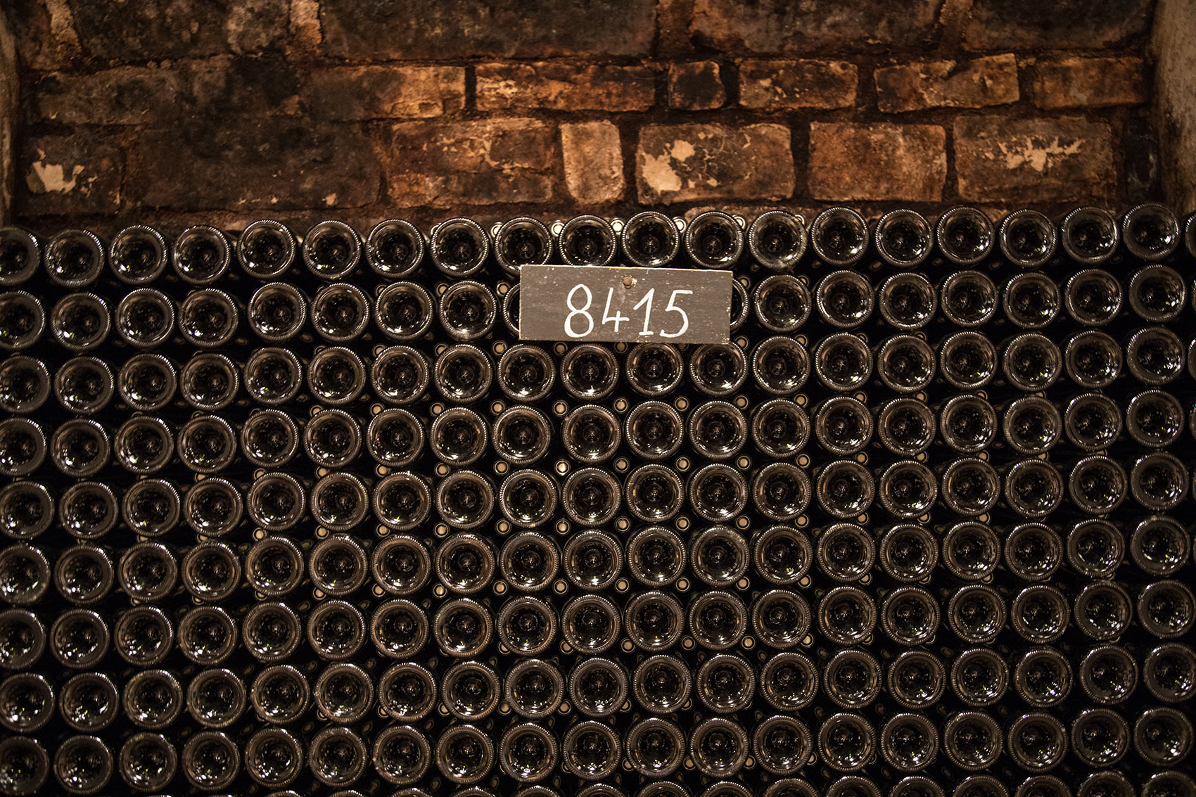 Bottle Rack in a Burgundy Cellar