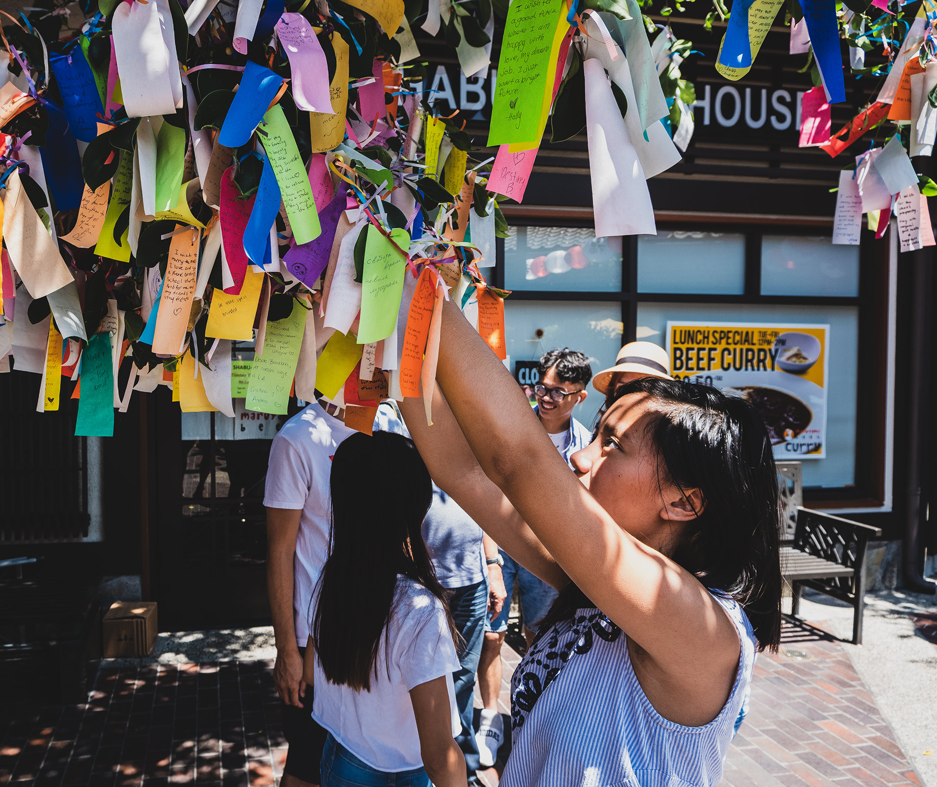 Wishing Tree in Little Tokyo in Downtown Los Angeles