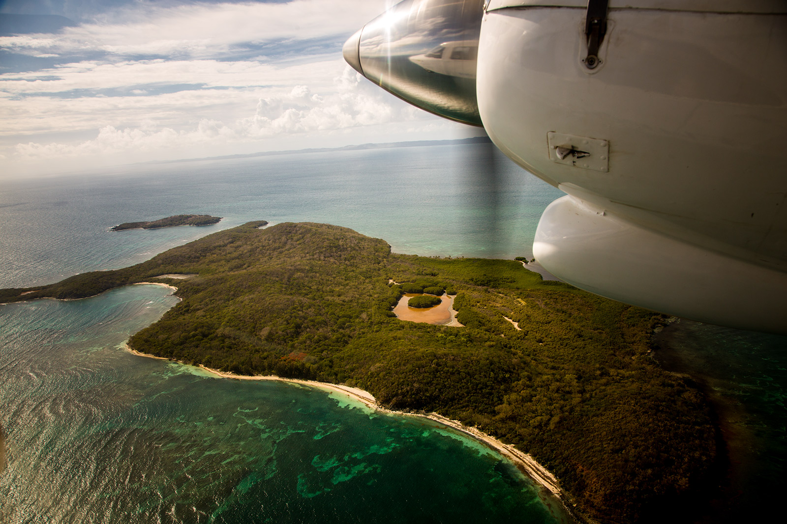 With Air Flamingo towards the island of Culebra.