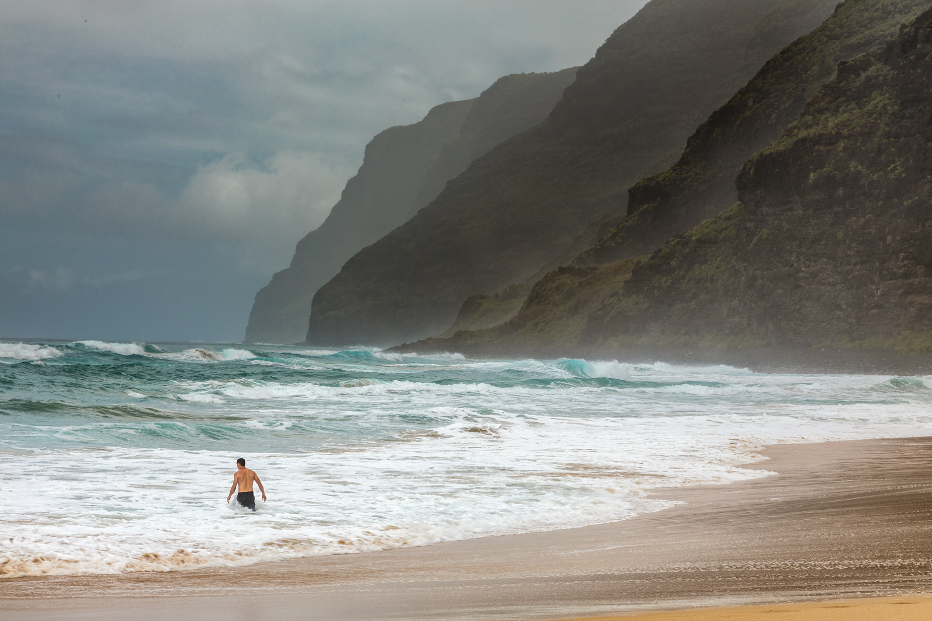 Kauai Polihale Beach. Legend says this this is the Soul Departure location