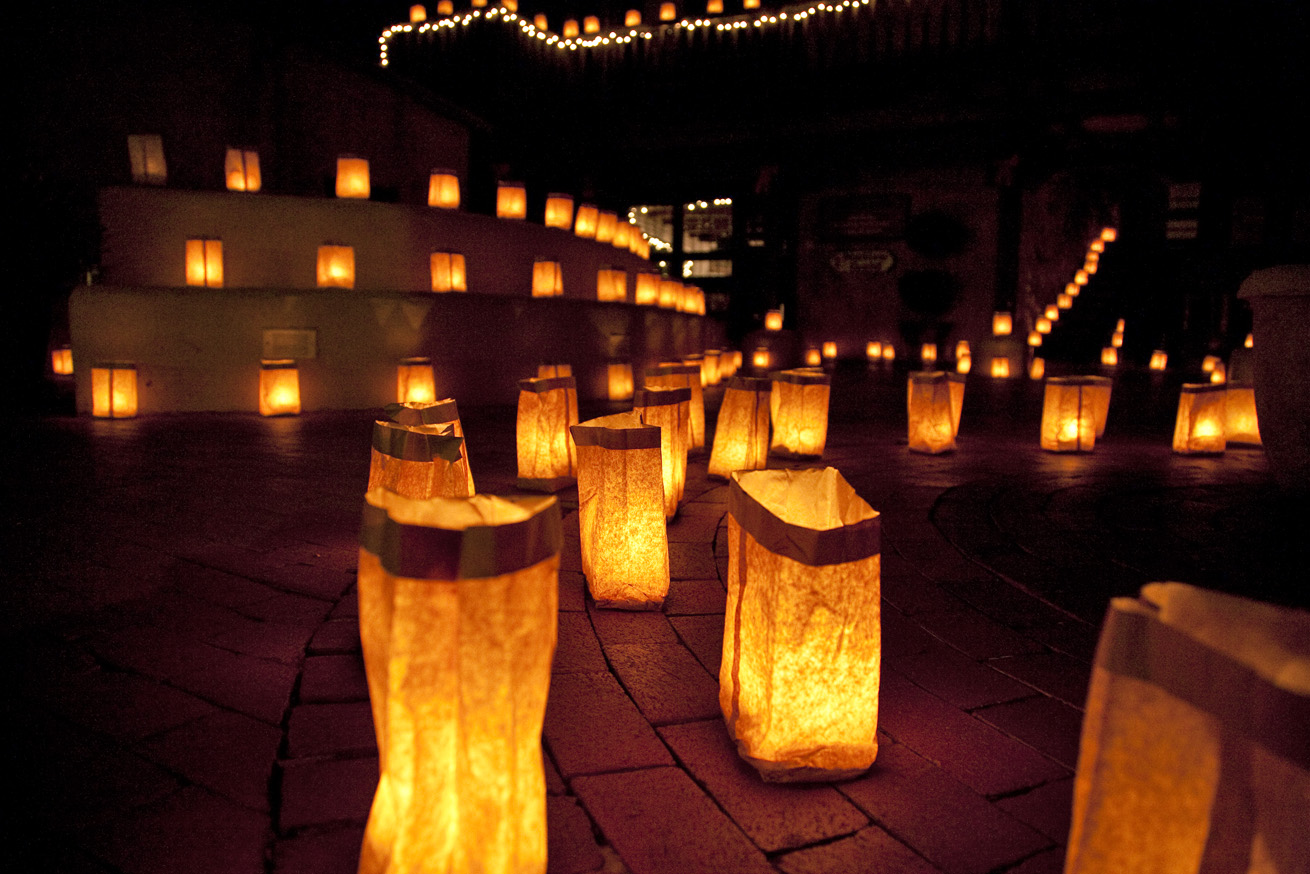 Luminarias  Albuquerque Winter Time