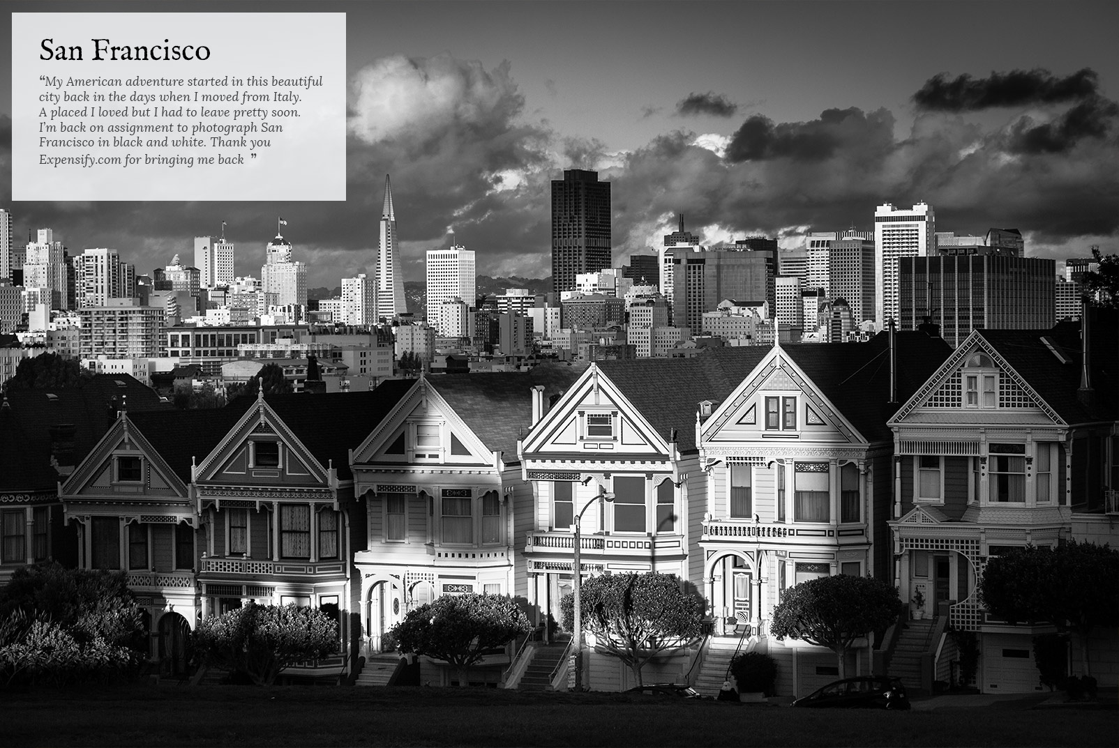 Painted Ladies in San Francisco after the rain