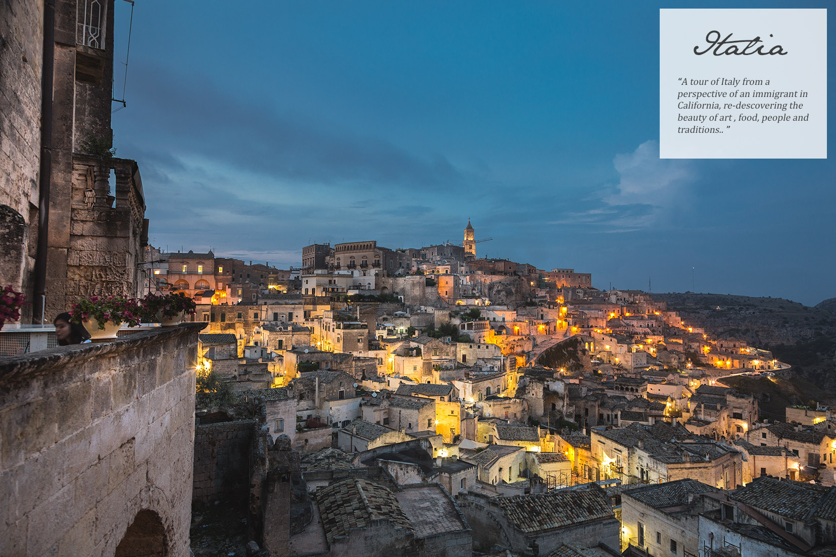 Matera. Basilicata. Night view.