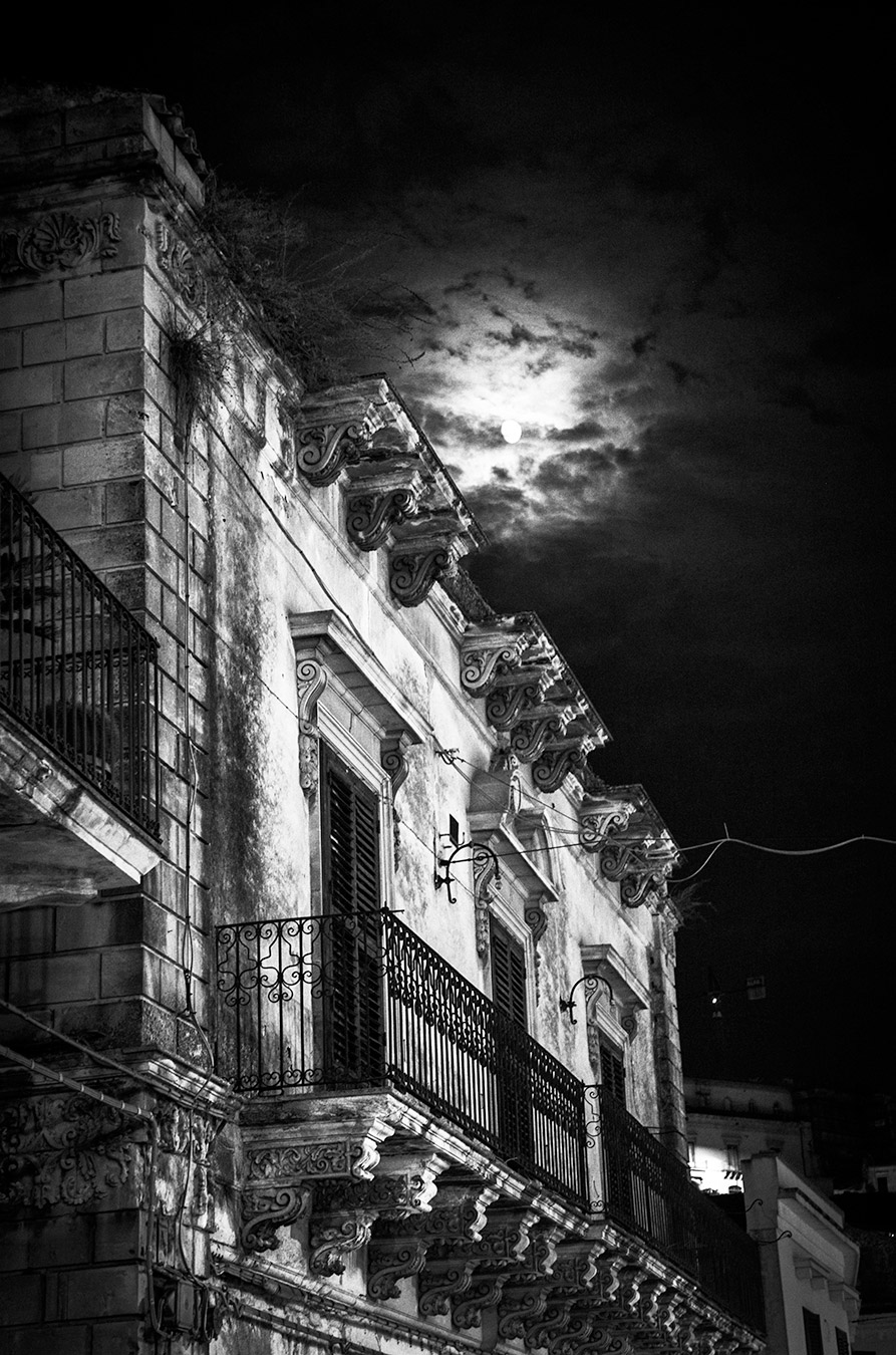 Modica with moon light