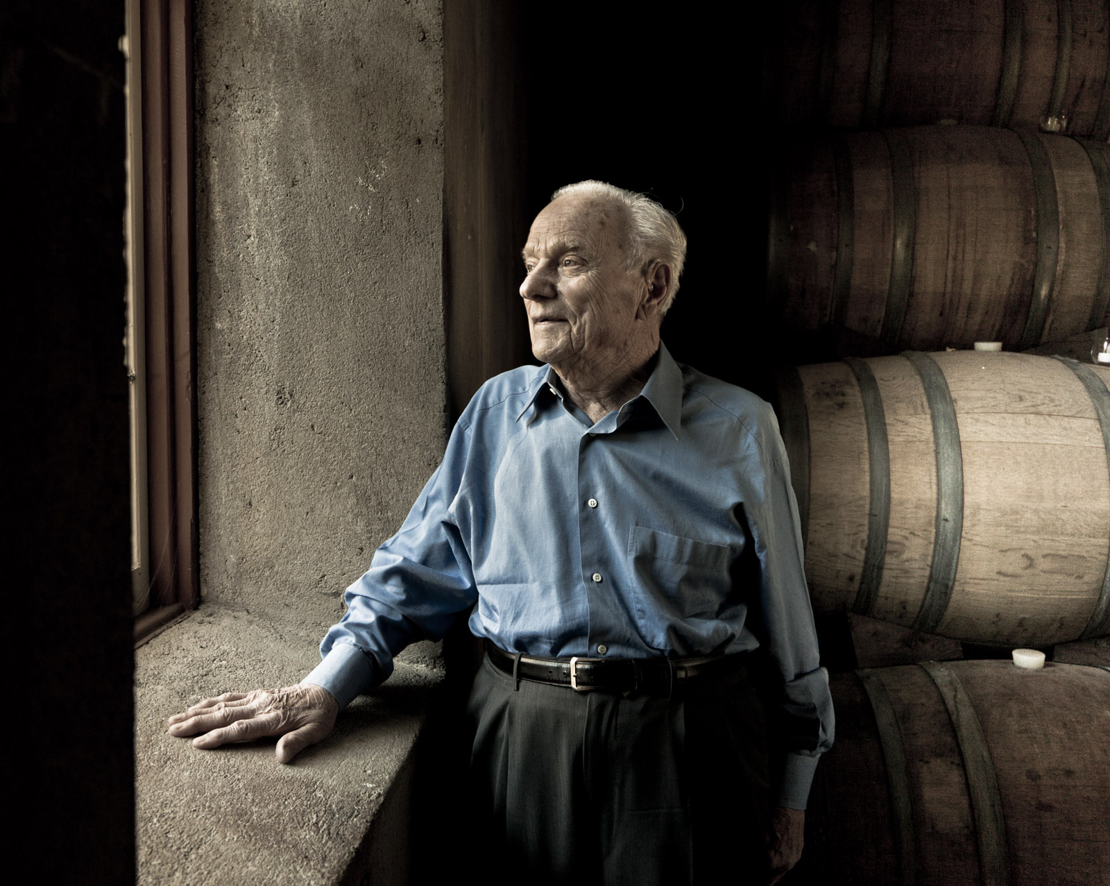 Peter Mondavi at the Red Cellar: Rocco Ceselin Photographer in Napa Valley