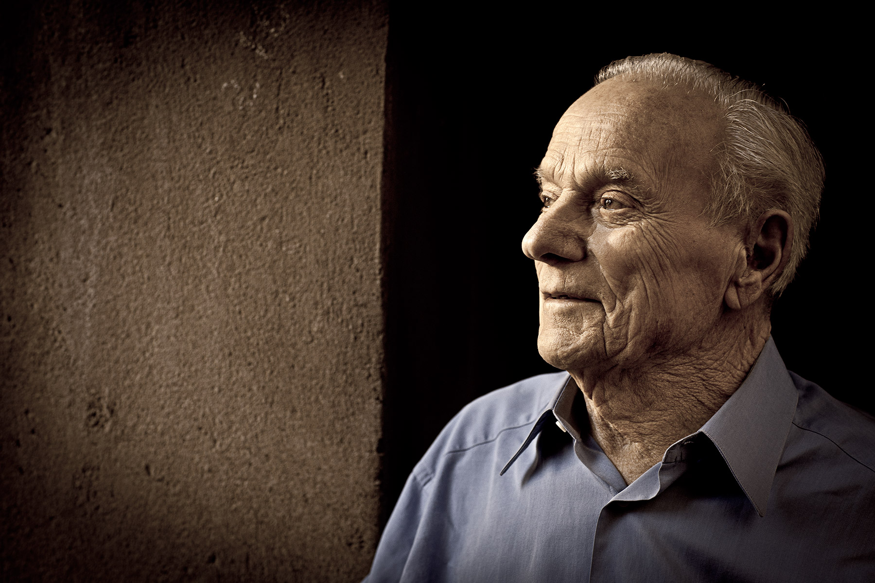 Peter Mondavi Portrait: Rocco Ceselin Photographer Napa Valley
