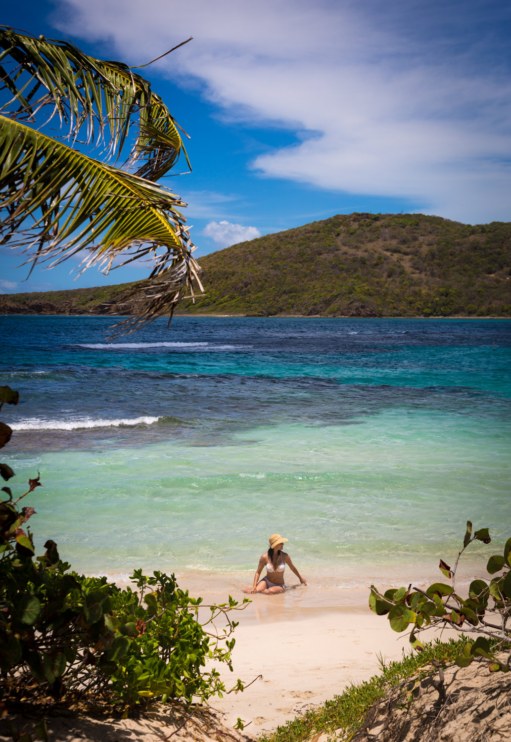 Playa Flamenco in the island of Culebra. Lifestyle