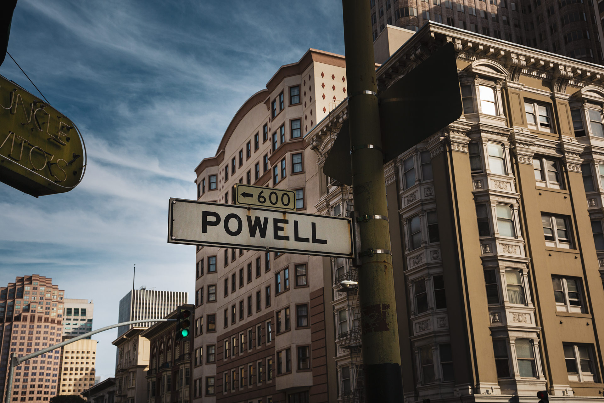 Powell Street Sign San Francisco