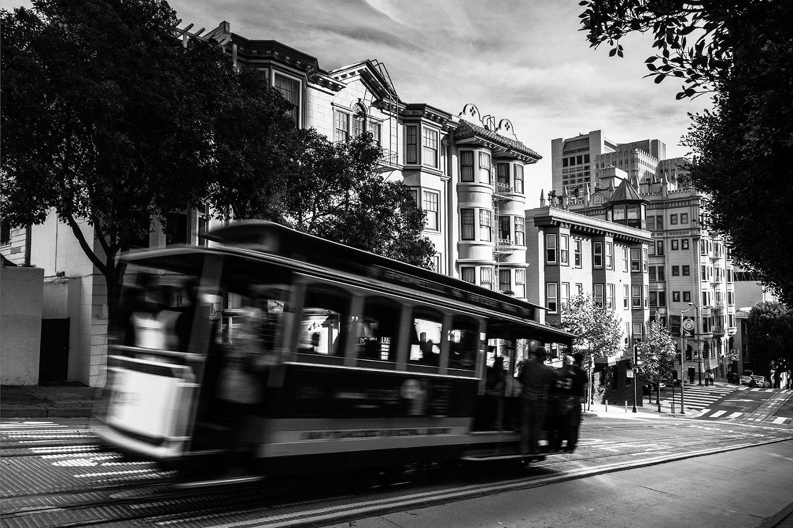 Powell Street. Motion on Cable Car